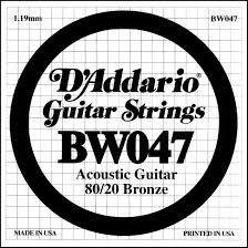 D'Addario BW030 80/20 Bronze - .047