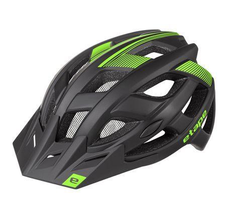 Cyklistická přilba ESCAPE černo-zelená matná S/M (55-58 cm)