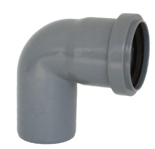 Koleno s hrdlem HTB pro odpadní potrubí, DN 50, úhel 87°