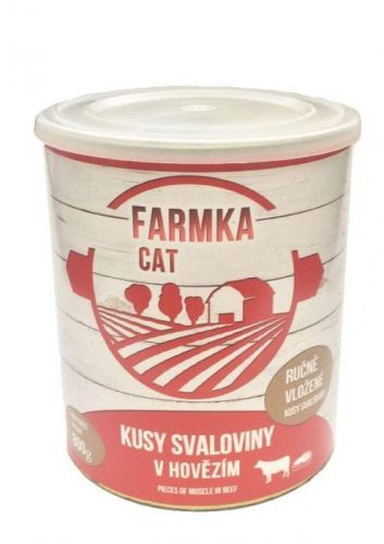 FALCO FARMKA CAT se svalovinou 8x800 g