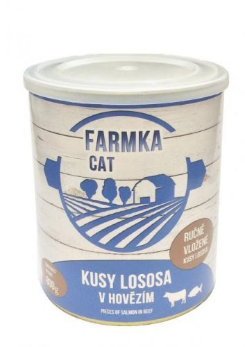 FALCO FARMKA CAT s lososem 8x800 g