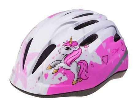 Dětská cyklistická helma Etape REBEL bílo-růžová S (48-52 cm)