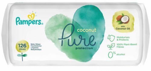 Pampers Dětské Čisticí Ubrousky Coconut Pure 3x 42 ks