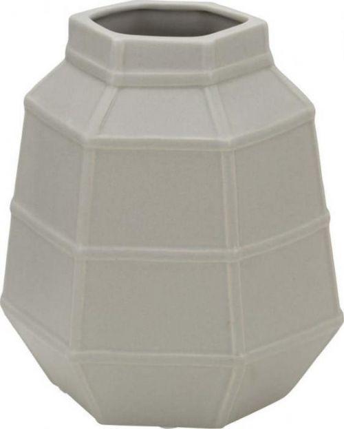 Béžová porcelánová váza Mauro Ferretti Lumiere, výška 19 cm
