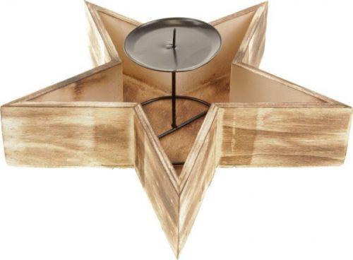 Autronic Svícen dřevěný - hvězda PD157