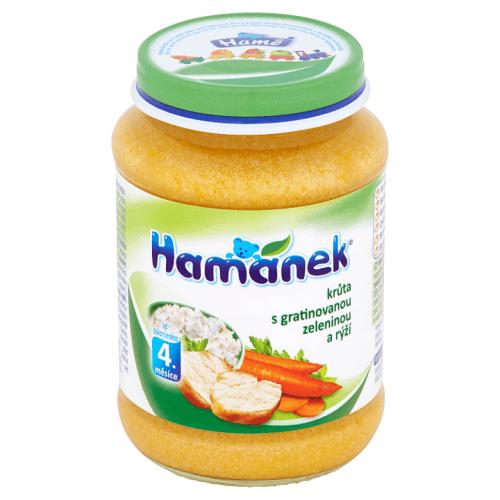 HAMÁNEK Krůta s gratinovanou zeleninou a rýží (190 g)