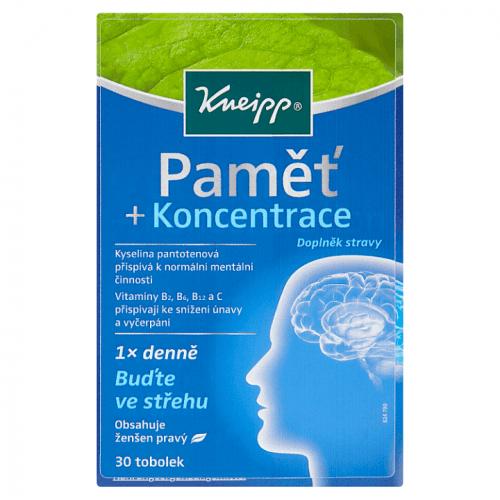 Doplněk stravy Kneipp Paměť + koncentrace 30 kapslí