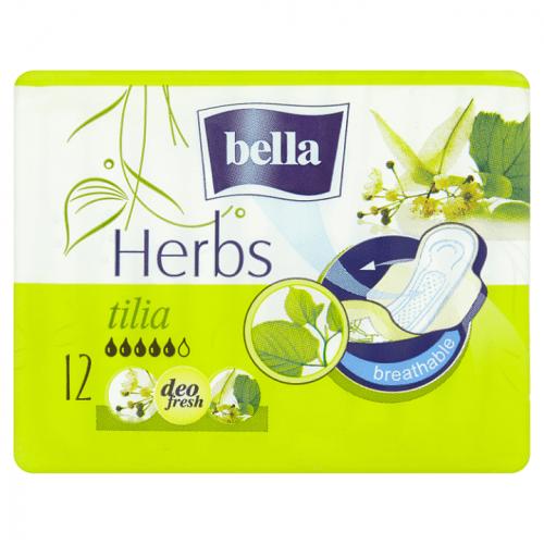 Bella Herbs Tilia dámské hygienické vložky s křidélky 12 kusů