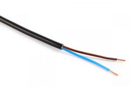 Kabel CYSY H05VV-F 2X0,75 černá PVC izolace slaněné licny ohebný vodič
