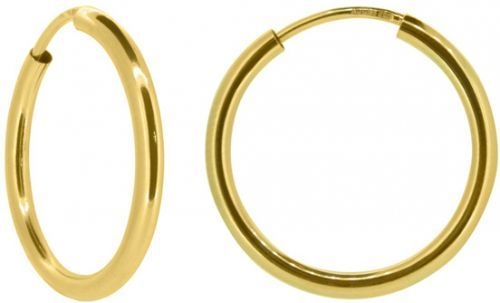 Brilio Dámské náušnice kruhy ze žlutého zlata P005.750112005.75 6 cm