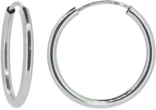 Brilio Dámské náušnice kruhy z bílého zlata P115.750112005.575 4 cm