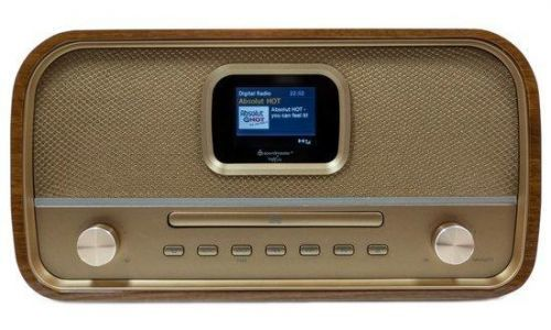 Soundmaster DAB970BR1 DAB+/ FM/AM rádio/ BT/ CD/MP3 / Hnědé