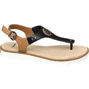 Černo-hnědé sandály Bench