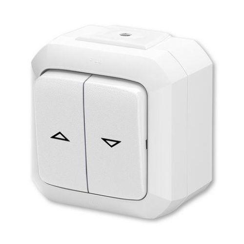 Variant+ Ovládač žaluziový jednopólový IP 54, bílá (3558N-C88510 B)