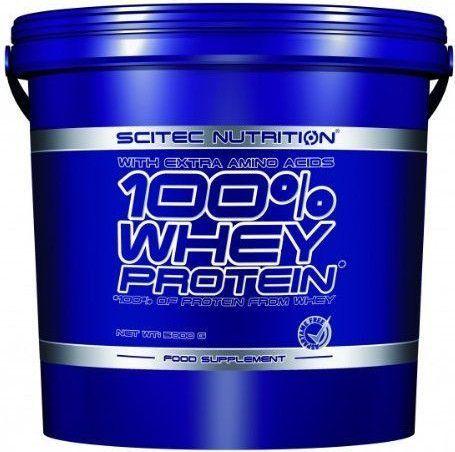 SCITEC Nutrition 100 % Whey Protein jahoda  - 5000g