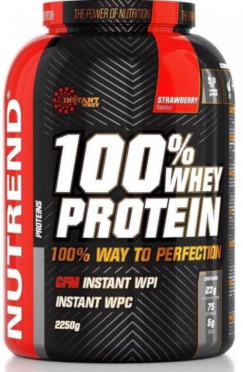 Nutrend 100% WHEY PROTEIN 2250 g JAHODA   - Protein