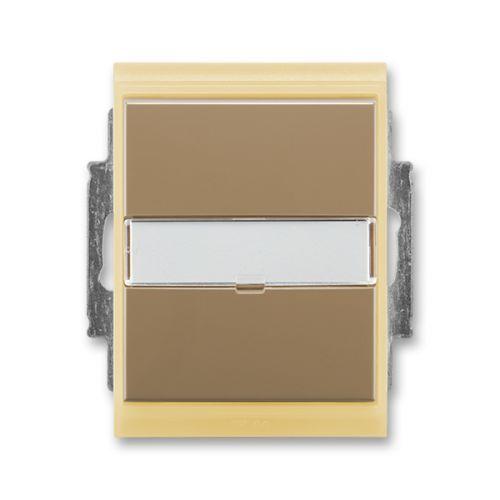 Element® Přepínač střídavý IP 44, zapuštěný, s popisovým polem, kávová / ledová opálová (3558E-A06910 25)