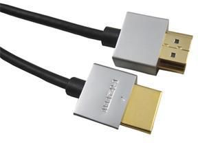 PremiumCord Slim HDMI High Speed + Ethernet kabel, 0,5 m