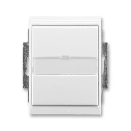 Time®, Element® Přepínač střídavý IP 44, zapuštěný, s popisovým polem, bílá / ledová bílá (3558E-A06910 01)