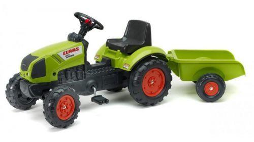 FALK Šlapací traktor 2040 Claas Arion s vlečkou