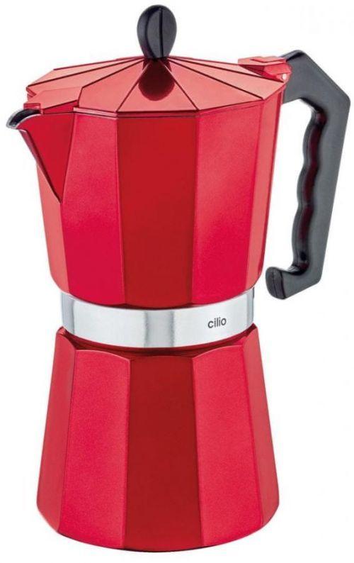 Cilio Vařič na espresso CLASSICO 9 šálků metalická červená