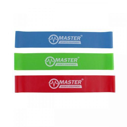 Akční set posilovacích gum MASTER Aerobik Tone Loop - 0,3, 0,5 a 0,7 mm