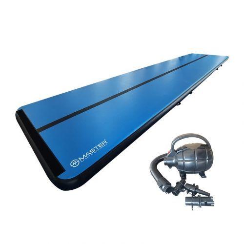 Airtrack MASTER S-Pro nafukovací žíněnka 1000 x 200 x 20 cm - modro - černá
