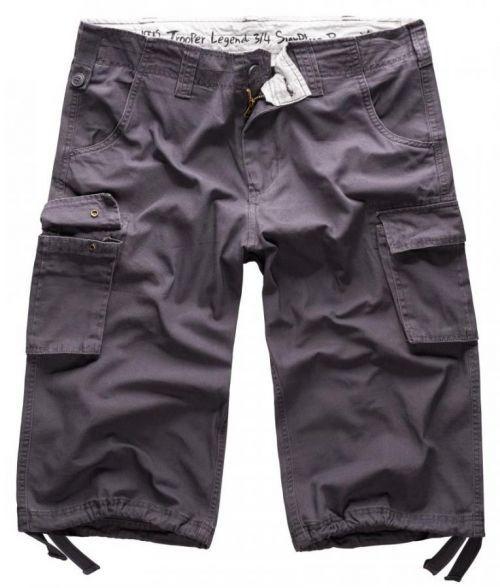 3/4 kalhoty Trooper Legend - antracitové, XXL
